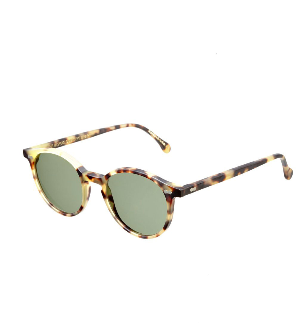 4980474996 CRAN MATTE LIGHT TORTOISE FRAME – BOTTLE GREEN LENSES – Sunita Suits